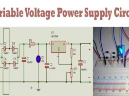 variable voltage power supply circuit