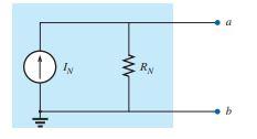 সার্কিট ১ঃ Norton equivalent circuit.