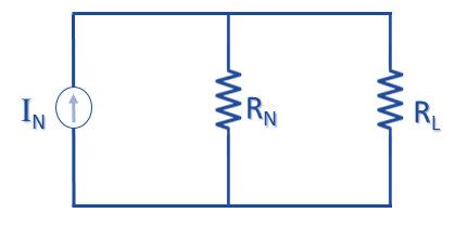 চিত্র  ৪ঃ  Norton's Equivalent Circuit